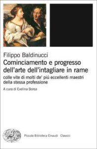 Copertina del libro Cominciamento e progresso dell'arte dell'intagliare in rame di Filippo Baldinucci