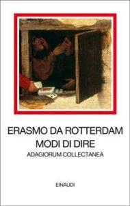 Copertina del libro Modi di dire di Erasmo da Rotterdam