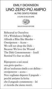 Copertina del libro Uno zero più ampio di Emily Dickinson