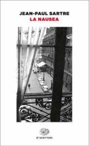 Copertina del libro La nausea di Jean-Paul Sartre