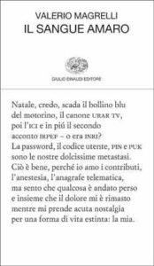 Copertina del libro Il sangue amaro di Valerio Magrelli