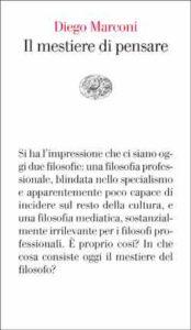 Copertina del libro Il mestiere di pensare di Diego Marconi