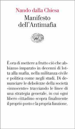 Copertina del libro Manifesto dell'Antimafia di Nando dalla Chiesa