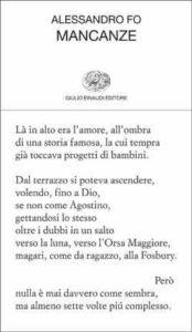 Copertina del libro Mancanze di Alessandro Fo