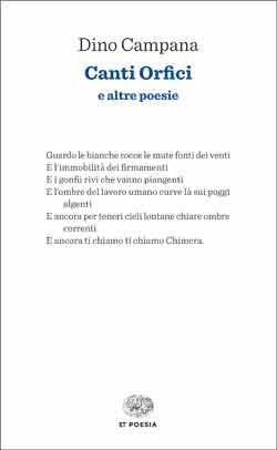 Copertina del libro Canti Orfici di Dino Campana