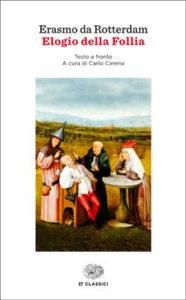 Copertina del libro Elogio della Follia di Erasmo da Rotterdam
