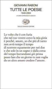 Copertina del libro Tutte le poesie di Giovanni Raboni