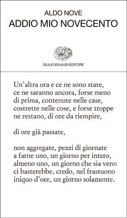 Copertina del libro Addio mio Novecento di Aldo Nove