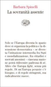 Copertina del libro La sovranità assente di Barbara Spinelli