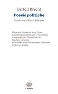 Copertina del libro Poesie politiche di Bertolt Brecht
