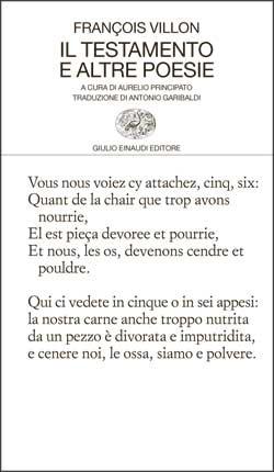 Copertina del libro Il testamento e altre poesie di François Villon