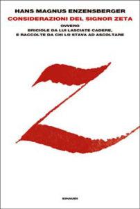Copertina del libro Considerazioni del signor Zeta di Hans Magnus Enzensberger