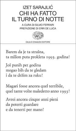 Copertina del libro Chi ha fatto il turno di notte di Izet Sarajlic