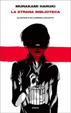 Copertina del libro La strana biblioteca di Murakami Haruki