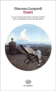 Copertina del libro Canti di Giacomo Leopardi