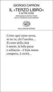 Copertina del libro Il «Terzo libro» e altre cose di Giorgio Caproni