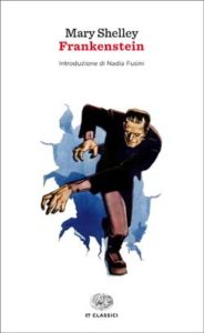 Copertina del libro Frankenstein di Mary Shelley