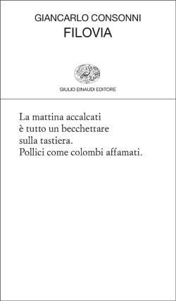 Copertina del libro Filovia di Giancarlo Consonni