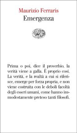 Copertina del libro Emergenza di Maurizio Ferraris