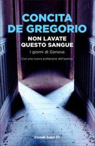 Copertina del libro Non lavate questo sangue di Concita De Gregorio