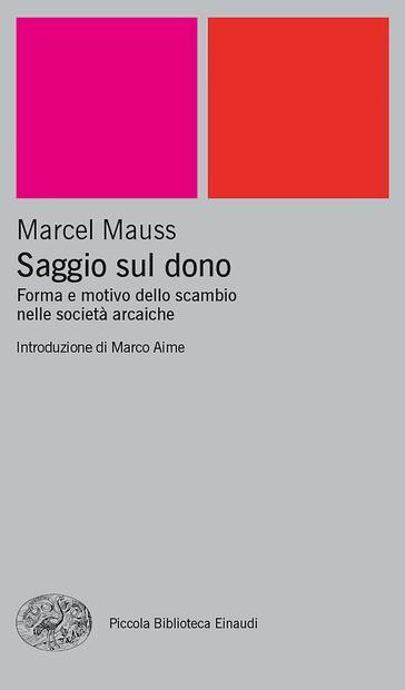 Copertina del libro Saggio sul dono di Marcel Mauss