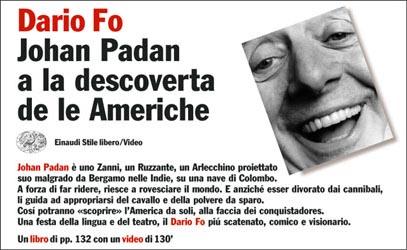 Copertina del libro Johan Padan a la descoverta de le Americhe