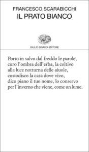 Copertina del libro Il prato bianco di Francesco Scarabicchi