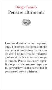 Copertina del libro Pensare altrimenti di Diego Fusaro