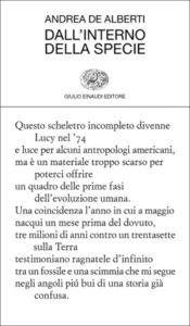 Copertina del libro Dall'interno della specie di Andrea De Alberti