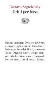 Copertina del libro Diritti per forza di Gustavo Zagrebelsky