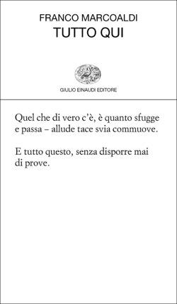 Copertina del libro Tutto qui di Franco Marcoaldi