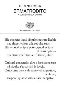 Copertina del libro Ermafrodito di Il Panormita