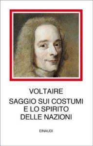 Copertina del libro Saggio sui costumi e lo spirito delle nazioni di Voltaire