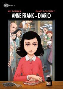 Copertina del libro Anne Frank – Diario di Ari Folman, David Polonsky
