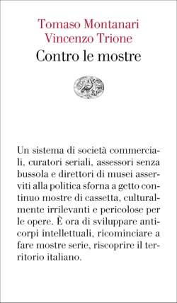 Copertina del libro Contro le mostre di Tomaso Montanari, Vincenzo Trione