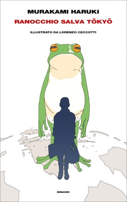 Copertina del libro Ranocchio salva Tokyo di Murakami Haruki
