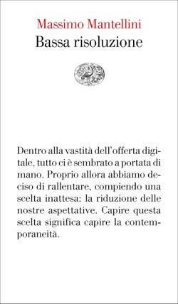 Copertina del libro Bassa risoluzione di Massimo Mantellini