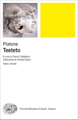 Copertina del libro Teeteto di Platone