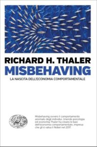 Copertina del libro Misbehaving di Richard H. Thaler