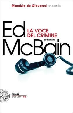 Copertina del libro La voce del crimine di Ed McBain