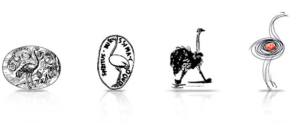 Giulio Einaudi editore - logo struzzi