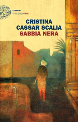 Copertina del libro Sabbia nera di Cristina Cassar Scalia