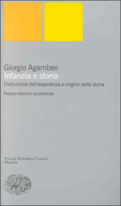 Copertina del libro Infanzia e storia di Giorgio Agamben