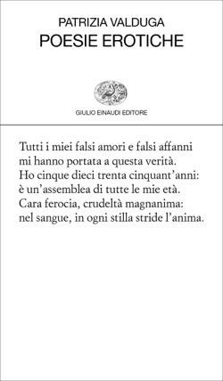 Copertina del libro Poesie erotiche di Patrizia Valduga