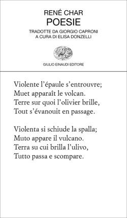Copertina del libro Poesie di René Char
