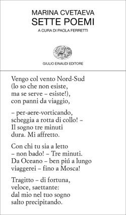 Copertina del libro Sette poemi di Marina Cvetaeva