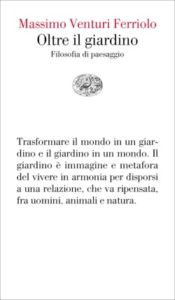 Copertina del libro Oltre il giardino di Massimo Venturi Ferriolo
