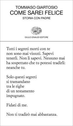 Copertina del libro Come sarei felice di Tommaso Giartosio