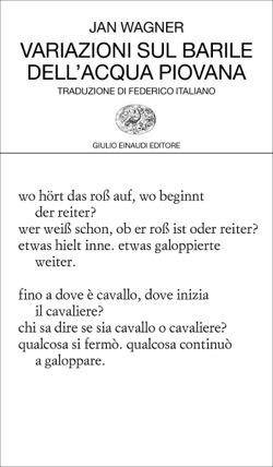 Copertina del libro Variazioni sul barile dell'acqua piovana di Jan Wagner