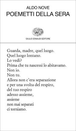 Copertina del libro Poemetti della sera di Aldo Nove